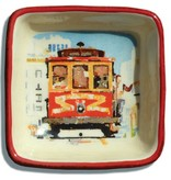 Cable Car, Watercolor, Small Trinket Tray