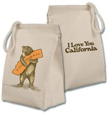 CA Bear Hug Canvas Lunch Bag
