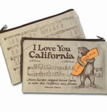 CA Bear Canvas Zipper Pouch