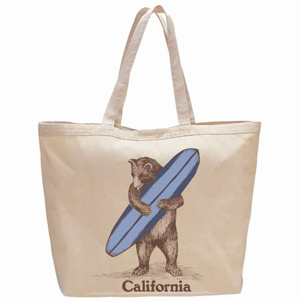 Surf Bear Beach Bag/Oversize Tote