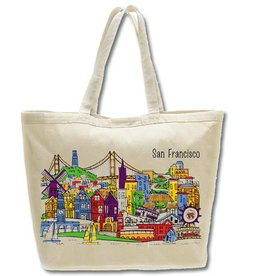 SF Whimsy Beach Bag/Oversized Tote