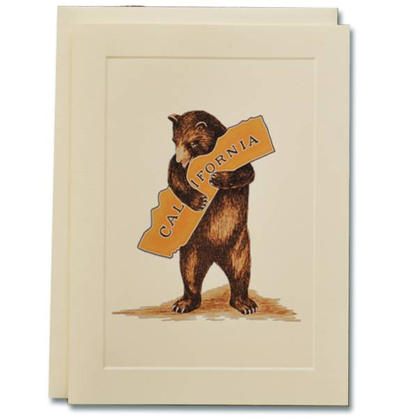 CA Bear Hug Note Card