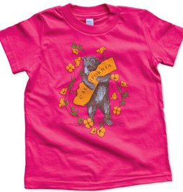 Bear & Poppy Kids Tee, Hot Pink,