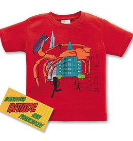 Crab Attacks SF Kid's Tee, Red