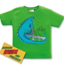 Godzilla/Bay Bridge Kids Tee, Green