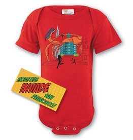 Crab Attack Onesie, Red