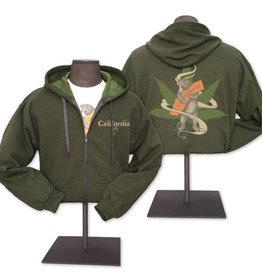 Cannabis Bear Green Heather Hoodie