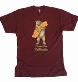 Vintage CA Bear Hug Tee, Cranberry