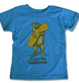 Kids Vintage Bear Hug Tee, Neon Blue/Limited Sizes