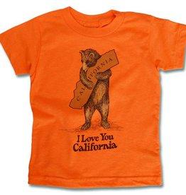 Kids Vintage Bear Hug Tee, Neon Orange