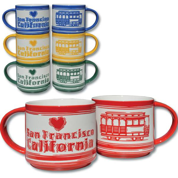 Etched Cable Car Mug