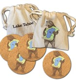 Lake Tahoe Bear Set/4 Coasters