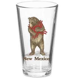 NM Zia Bear Pint Glass