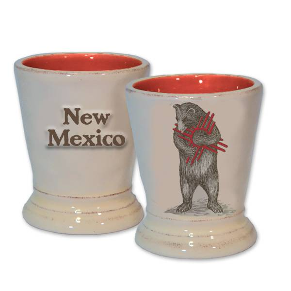 NM Zia Bear Ceramic Shot Glass