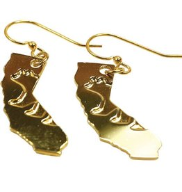 CA Bear Gold Plated Earrings