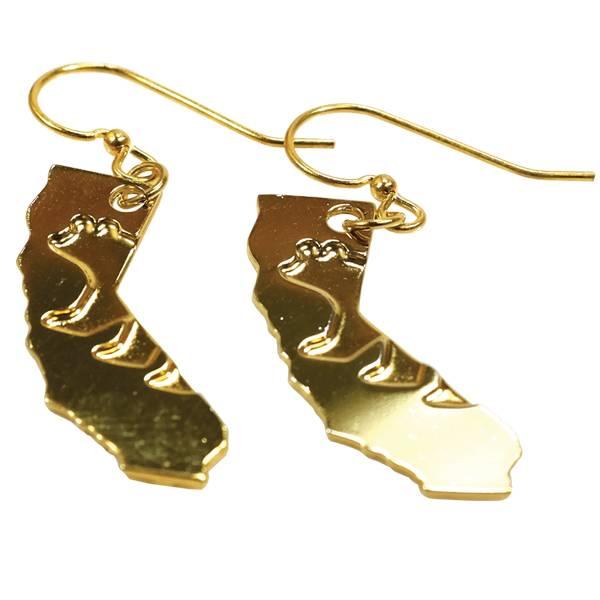 CA Bear Gold Plated Earrings