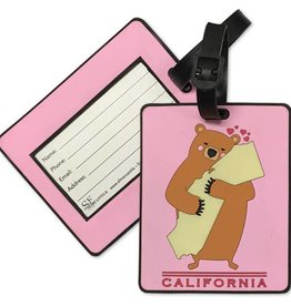 Cali Girl Bear PVC Luggage Tag