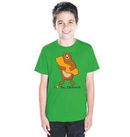 Cali Boy Green Bear Hug Youth Tee