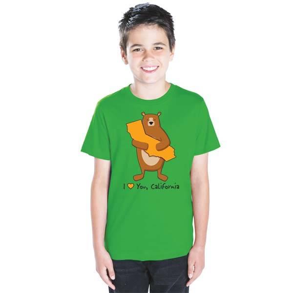 Cali Boy Green Bear Hug Youth Tee