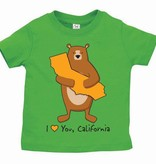 Cali Boy Green Infant Bear Hug Tee