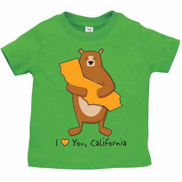 Cali Boy Green Infant Bear Hug Tee