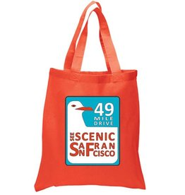 SF Mercantile 49 Mile Drive Orange Tote