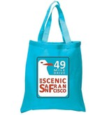 49 Mile Drive Turquoise Tote