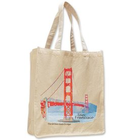 GG Bridge Watercolor Jumbo Shopping Tote
