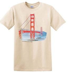 GG Bridge Watercolor Tee, Natural