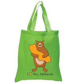 Cali Boy Bear Hug Green Tote