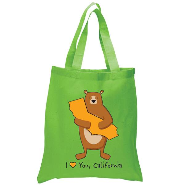 Cali Boy Bear Hug Green Tote