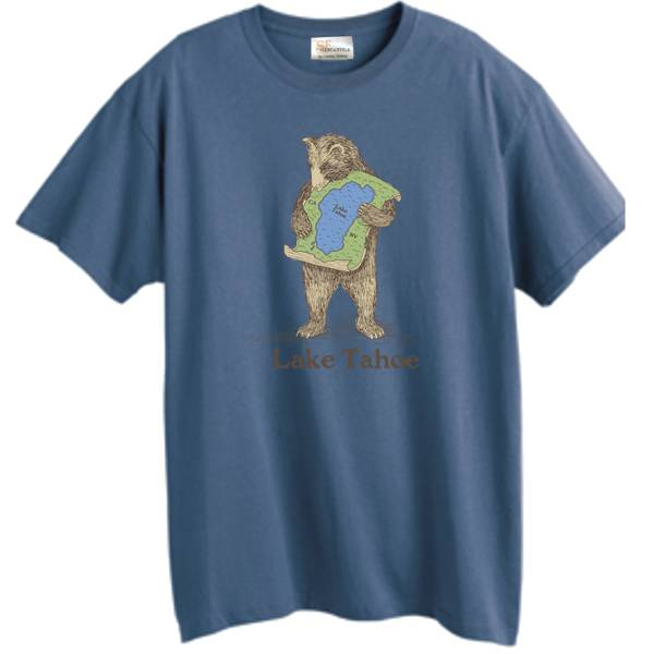 Lake Tahoe Denim Blue Bear Hug Tee