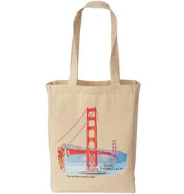 GG Bridge Watercolor Small Tote