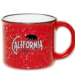 Red Speckled Ceramic California Mug
