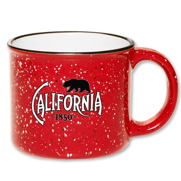 Red SpeckledCeramic California Mug