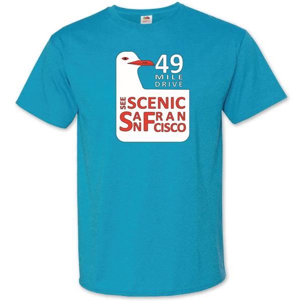 49 Mile Drive Turquoise Tee