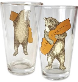 CA Bear Hug Pint Glass