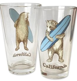 Surf Bear Pint Glass - ETA 6/1/18