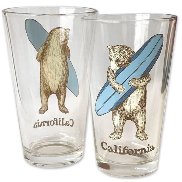 Surf Bear Pint Glass