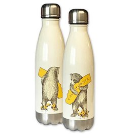 CA Bear Hug Stainless Steel Water Bottle, Antique White