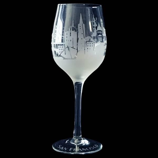 Clear Frost Skyline Wine Glass