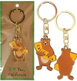 Cali Boy Bear Keychain