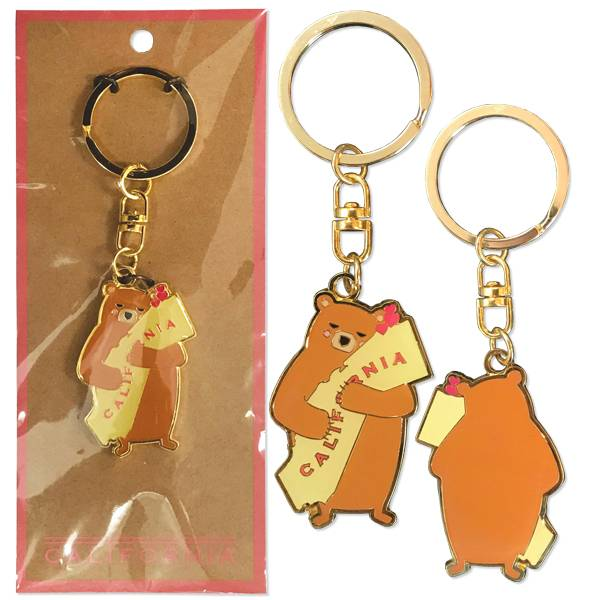 Cali Girl Bear Keychain