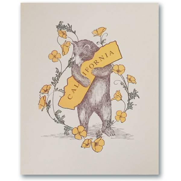 CA Poppy Bear Hug 8x10 print