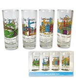 SF Whimsy Boxed Set of 4 Shot Glasses