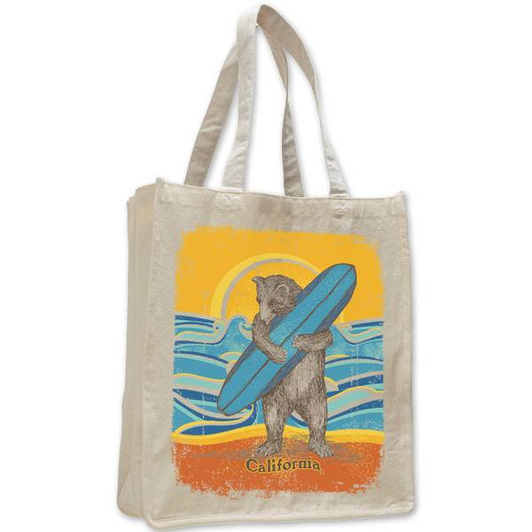 Retro Surf Bear Jumbo Tote