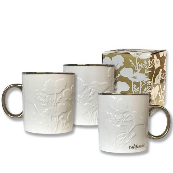 CA White Poppy Mug