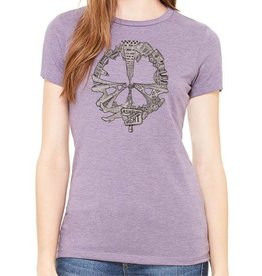 SF Mercantile SF Peace Women's Tee, Heather Purple