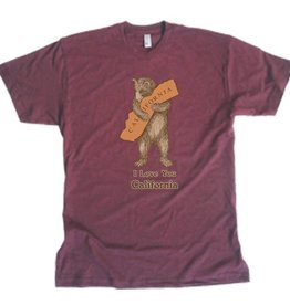 SF Mercantile CA Bear Hug Tee, Wine