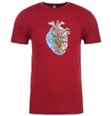 SF Mercantile Map Heart Tee, Cranberry, Unisex